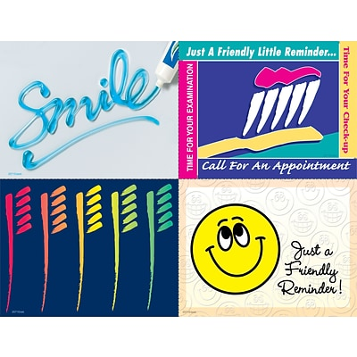 Graphic Image Assorted Laser Postcards; Smile
