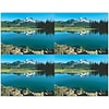 Mountain Lake Scene Generic Laser Postcards