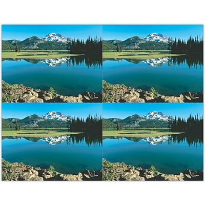 Generic Laser Postcards; Mountain Lake Scene