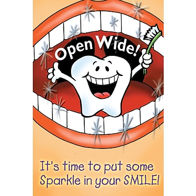 Smile Team™ Laser Postcards; Open Wide