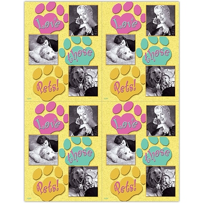 Photo Image Laser Postcards; Love Pets