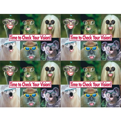 Humorous Laser Postcards, Animals W/Glasses