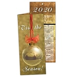 Gold Ornament Holiday Calendar Card