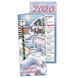 Medical Holiday Calendar Cards; Seasons Greeting Cottage