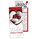 Holiday Calendar Cards; Heart with Ornaments