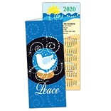 Holiday Calendar Cards; Peace Snow
