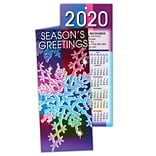 Holiday Calendar Cards; Seasons Greetings, Snowflake