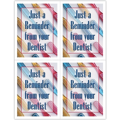 Graphic Image Laser Postcards; Toothbrushes/Reminder