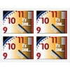 Toothbrush Clock Dental Laser Postcards