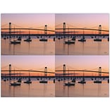 Bridge & Boats Generic Laser Postcards