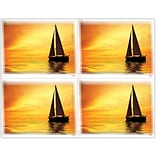 Scenic Laser Postcards, Scenic Boat Sunset
