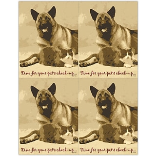 Time for Pets Check-up Laser Postcards