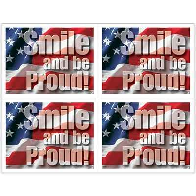 Recycled Laser Postcards; Smile and be Proud
