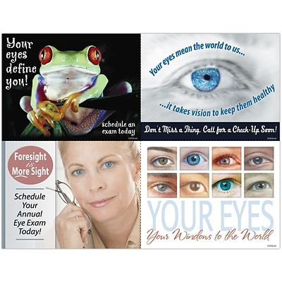 Eye Care Assorted Laser Postcards; Aging Pop