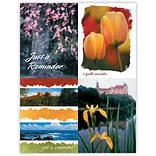 Generic Assorted Laser Postcards; Floral