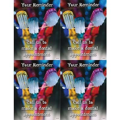 Photo Image Laser Postcards; Colored Toothbrushes