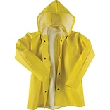 Neese® Dura Quilt 56 Yellow Attached Hood Rain Jacket LG