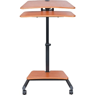 BALT® Up-Rite Mobile Sit/Stand Workstation, 27 1/2 x 22 1/2 x 45 1/2, Cherry (90459)