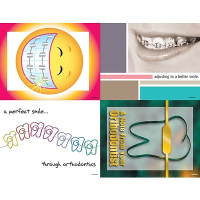 Dental Assorted Laser Postcards; Orthodontia