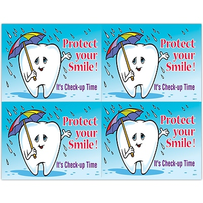 Graphic Image Laser Postcards; Protect Smile