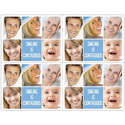 Cosmetic Dentistry Laser Postcards, Smiling is Contagious