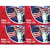 Photo Image Laser Postcards, 4th of July