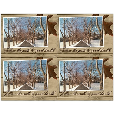 Photo Image Laser Postcards, Snowy Lane
