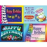 Chiropractic Assorted Laser Postcards; Happy Birthday From Your Chiropractor