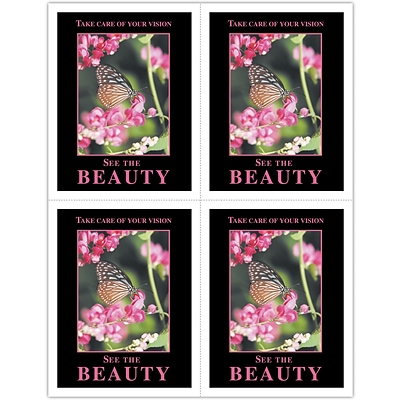 Scenic Laser Postcards; Beauty/Butterfly