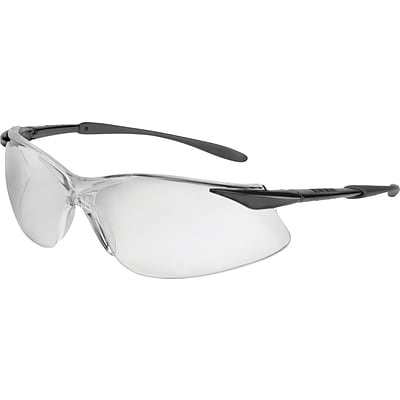 North by Honeywell, Tectonic® Series Safety Eyewear; Black Frame, Clear Lens, Scratch-Resistant Lens