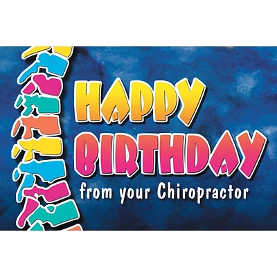 Chiropractic Laser Postcards, Happy Birthday From Your Chiropractor