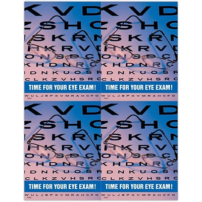 Graphic Image Laser Postcards, Eye Chart and Glasses
