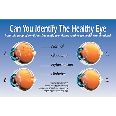 Patient Interactive Laser Postcards; Identify Healthy Eye