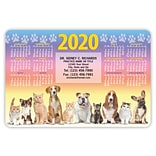 MAP® Brand Stickie™ Calendars; 4x6, Pets in Line
