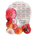 Medical Arts Press® Stickie™ Die-Cut Calendars; 5x7, Floral