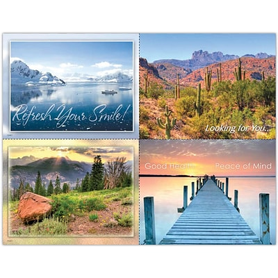 Scenic Assorted Laser Postcards, Mountain and Desert