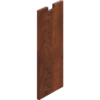 Offices To Go® 12 Wide Half End Panel, American Dark Cherry, 28H x 12W x 1D