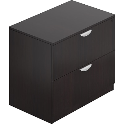 Offices To Go® Superior Lateral File Cabinet with Lock, Letter/Legal, 2-Drwr, American Espresso, 22