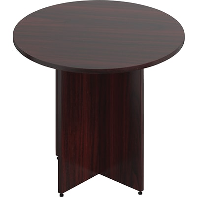 Offices To Go® 36 Wide Round Table With Cross Base, American Mahogany, 36 Dia