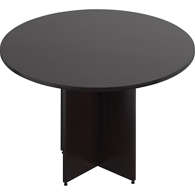 Offices To Go® 48 Wide Round Table, American Espresso, 48 Dia