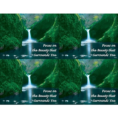 Scenic Laser Postcards; Waterfall, Focus on the Beauty that Surrounds You