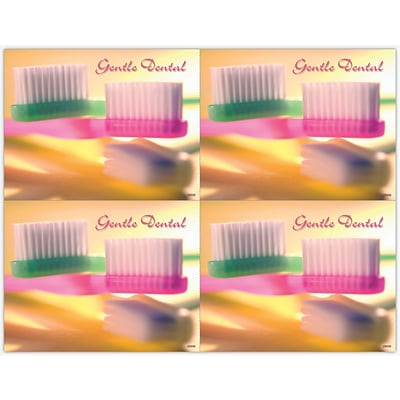 Graphic Image Laser Postcards, Gentle Reminder, Two Brushes