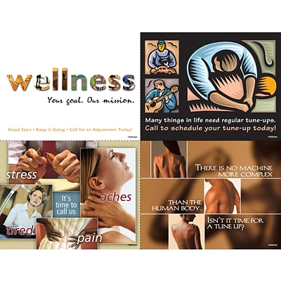 Chiropractic Assorted Laser Postcards; Wellness