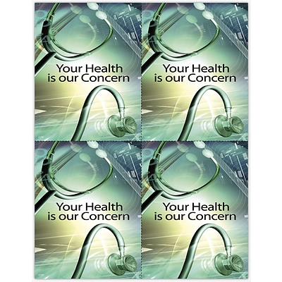 Photo Image Laser Postcards, 3D Graphic Stethoscope