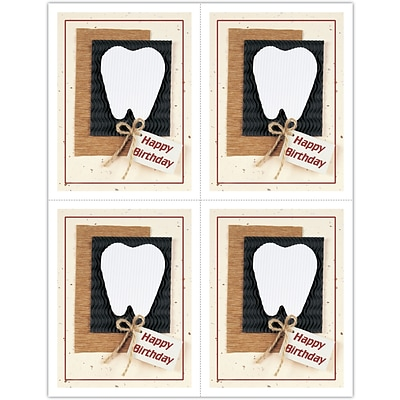 Graphic Image Laser Postcards, Large Tooth, Birthday