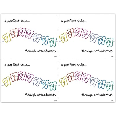 Orthodontia Laser Postcards; Perfect Smile