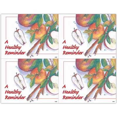 Graphic Image Laser Postcards; A Healthy Reminder