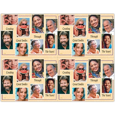 Cosmetic Dentistry Laser Postcards; Smile Collage Deluxe