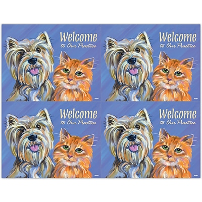 Veterinary Laser Postcards; Dog & Cat Welcome