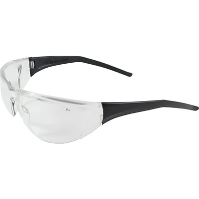 Tranzmission™ Rimless Safety Glasses with Black Temple, Clear Lens and Anti-Scratch Coating